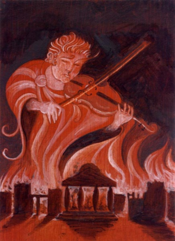Nero fiddles while rome burns